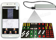 Invisible Side Marked Paigow Colorful Playing Cards For PK King S518 Analyzer Phone