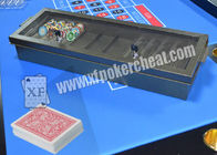 Casino Metal Chiptray Hidden Lens Gambling Cheat Devices , Distance 15cm - 20cm