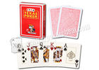 Plastic Gambling Props Red Italy Modiano Texas Holdem Playing Cards
