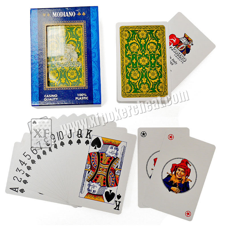 Casino Italy Modiano Marked Poker Cards For IR Poker Scanner