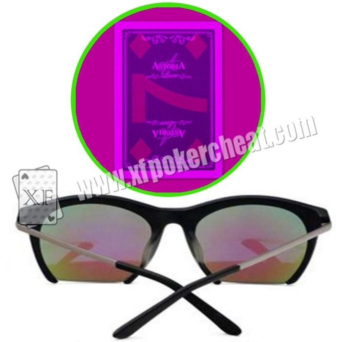 Purple UV Perspective Glasses For Magic Show / Casino Games / Poker Match