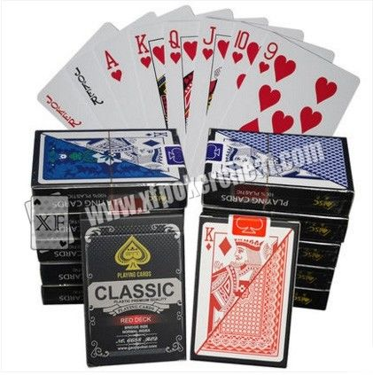Magic Tool Marked Classic Plastic Playing Poker Cards For Analyzer Gamble Cheat Device