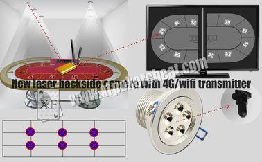Scanner de carte de jeu de caméra d'arrière de laser de lumières blanches avec l'émetteur de 4g Wifi